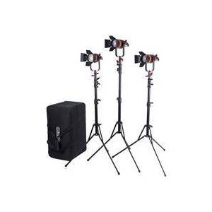 Came-TV Boltzen Q-Series 55W High Output Fresnel Focusable Bi-Color LED 3-Light Kit with Light Stands and Case