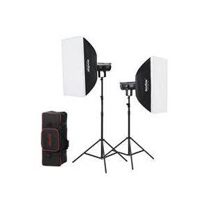 Godox LED SL200WII Daylight 2-Light Kit with Stands and Softboxes