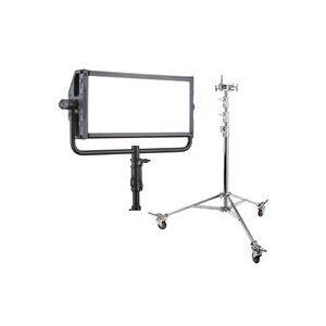 Litepanels Gemini 2x1 Soft RGBWW LED Panel - With Flashpoint Junior Steel Wheeled Stand - 12'