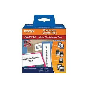 """Brother DK2212 2.4""""x50' Black on White Continuous Length Paper Tape"""