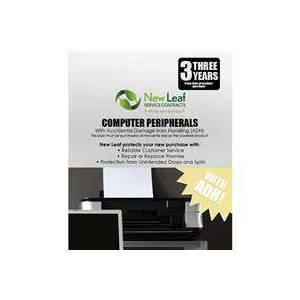New Leaf PLUS - 3 Year Computer Peripheral Service Plan with Accidental Damage Coverage (for Drops & Spills) for Products Retailing up to $250.00