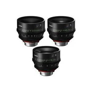 Canon 3 Pack SUMIRE PRIME Lenses With CN-E24mm T1.5 FP X (PL Mount) Lens - CN-E35mm T1 5 FP X (PL Mount) Lens - CN-E50mm T1.3 FP X (PL Mount) Lens