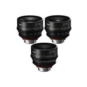 Canon 3 Pack SUMIRE PRIME Lenses With CN-E24mm T1.5 FP X (PL Mount) Lens - CN-E35mm T1 5 FP X (PL Mount) Lens - CN-E85mm T1.3 FP X (PL Mount) Lens