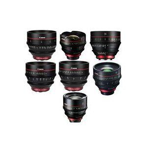 Canon Cinema Prime EF CN-E Lens Bundle Includes - 14mm T3.1 / 20mm T1.5 / 24mm T1.5 / 35mm T1.5 / 50mm T1.3 / 85mm T1.3 / 135mm T2.2