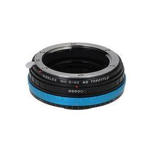 Fotodiox Vizelex ND Throttle Lens Mount Adapter for Nikon F Mount G-Type D/SLR Lens to Samsung NX Mount Mirrorless Camera Body with Built-In Variable ND Filter (1 to 8 Stops)