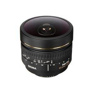 Sigma 8mm f/3.5 EX DG Circular Fisheye Auto Focus Lens for Nikon AF-D Cameras - USA Warranty