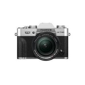 Fuji X-T30 Mirrorless Camera with XF 18-55mm f/2.8-4 R LM OIS Lens - Silver