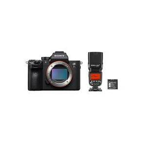 Sony a7R III Mirrorless Digital Camera with Flashpoint Zoom Li-ion R2 TTL Speedlight