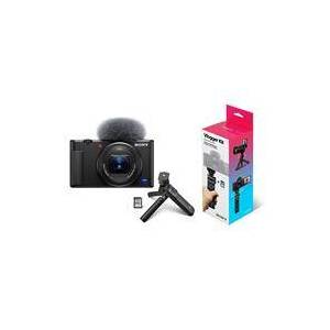 Sony ZV-1 Compact 4K HD Camera - With Sony ACCVC1 Vlogger Accessory Kit with Wireless Bluetooth Grip / Tripod (GP-VPT2 BT) and 64GB UHS-II SD Card (SF-E64/T1)