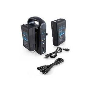IndiPRO Two 95Wh Compact V-Mount Lithium-Ion Batteries with Dual Battery Charger Kit