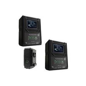 Core SWX 2 Pack Hypercore NEO 9 Mini 98Wh 14.8V 6.6Ah V-Mount Lithium-Ion Battery - With Core SWX Two Position Simultaneous V-Mount Battery Charger with 90W Power Supply