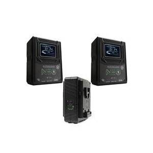 Core SWX 2 Pack Hypercore NEO 9 Mini 98Wh 14.8V 6.6Ah V-Mount Lithium-Ion Battery - With Core SWX GPM-X2S Super Compact V-Mount Fast Charger