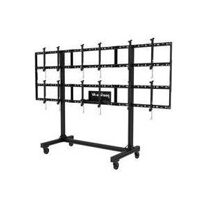"""Peerless SmartMount Portable Video Wall Cart 2x2 and 3x2 Configuration for 46"""" to 55"""" Displays"""