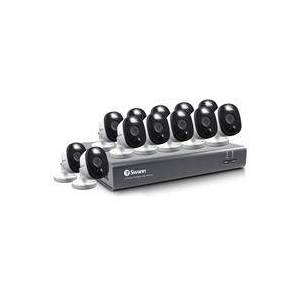 Swann DVR 4580 16-Channel Full HD 1TB DVR Security System with 12 Warning Light Cameras