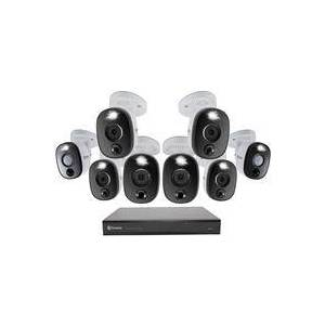 Swann DVR-5580 16-Channel 4K Ultra HD 2TB DVR Security System with 8 Warning Light Cameras