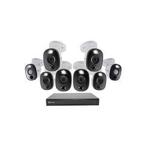 Swann DVR-5580 16-Channel 4K Ultra HD 2TB DVR Security System with 8 Warning Light Cameras