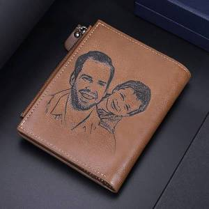 GetNameNecklace Personalized Leather Photo Buckle Wallet for Men unique Gift for Father gift for boyfriend