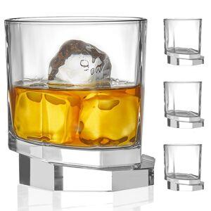JoyJolt Aqua Vitae Octagon Crystal Whiskey Glasses Set of 2