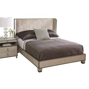 Global Views Argento Bed - Color: Grey - AG2.20006