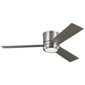 Monte Carlo Fans Clarity Max Ceiling Fan - Color: White - Blade Color: Silver and Walnut - 3CLMR56BSD-V1