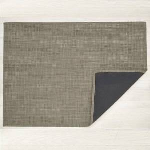 """Chilewich Basketweave Floor Mat - Color: Grey - Size: 35"""" x 48"""" - 200446-020"""