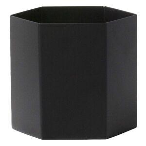 Ferm Living Hexagon Pot - Color: Black - Size: Large - 4178