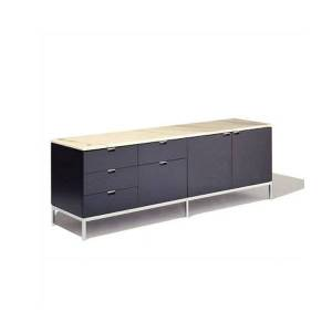 Knoll Florence Knoll Five-Drawer + Two-Door Credenza - Color: Wood tones - 2547M-CO-E-MV-S - Knoll Authorized Retailer
