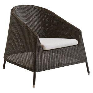 Cane-line Kingston Lounge Chair Seat Cushion - Color: White - 5450YSN94