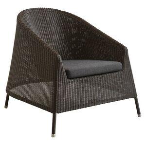 Cane-line Kingston Lounge Chair Seat Cushion - Color: Black - 5450YSN98