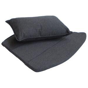 Cane-line Breeze Lounge Chair Cushion Set - Color: Black - 5468YSN98