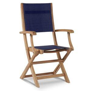 HiTeak Furniture Stella Outdoor Folding Armchair - Color: Blue - HLAC435-BL