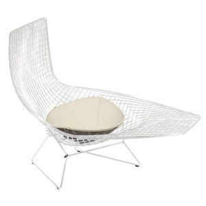Knoll Bertoia Asymmetric Chaise with Seat Cushion - 429L-C-K-K242/65 - Knoll Authorized Retailer