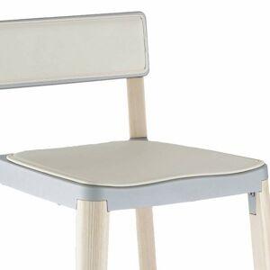 Emeco Lancaster Seat Pad - Color: White - LAN SEAT PAD W