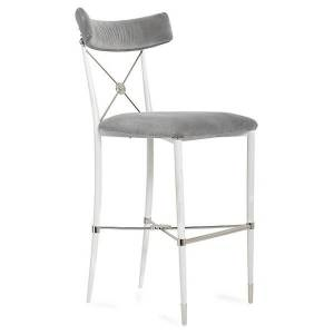 Jonathan Adler Rider Counter Stool - Color: Grey - 26626