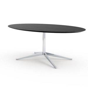 """Knoll Florence Knoll Oval Table Desk - Color: Green - Size: 98-"""" - 2481D-C-MVS - Knoll Authorized Retailer"""