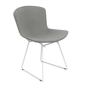 Knoll Bertoia Two-Tone Side Chair, Fully Upholstered - Color: Classic Boucle: Onyx / Red - 420CT-U-C-RD-K162/12 - Knoll Authorized Retailer