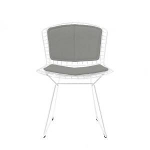 Knoll Bertoia Two-Tone Side Chair with Back Pad/Seat Cushion - Color: Polished Chrome / Blue - 420CT-KP-C-BU-K242/65 - Knoll Authorized Retailer