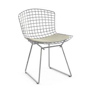 Knoll Bertoia Two-Tone Side Chair with Seat Cushion - Color: Polished Chrome - 420CT-K-C-C-K242/13 - Knoll Authorized Retailer