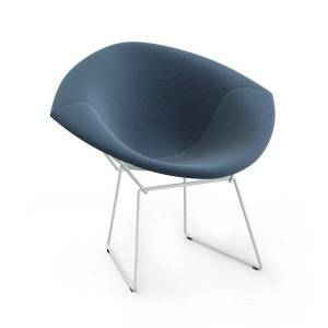 Knoll Bertoia Two-Tone Diamond Chair, Fully Upholstered - Color: Cato: Brown / Black - 421LT-U-C-BL-H800/43 - Knoll Authorized Retailer