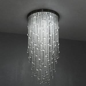 Boyd Lighting Cascade Round Suspension - Color: Clear - Size: Extra Large - K0136/72/120