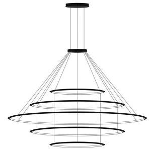 Bover Circular LED 5 Tier Chandelier - Color: Black - Size: Large - CD4E-00V9AZRU05U