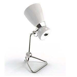 DelightFULL Amy Table Lamp - Color: White - Size: 2 light - AMYTBL_WHYGL_NKLPL_GRYPP