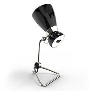 DelightFULL Amy Table Lamp - Color: Black - Size: 2 light - AMYTBL_BLKGL_NKLPL_GRYPP