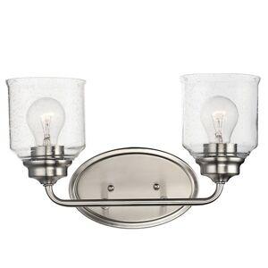 Maxim Lighting Acadia Bath Bar - Color: Silver - Size: 2 light - 12262CDSN