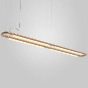 ANDlight Pipeline CM7 LED Linear Chandelier - Color: Copper - Size: 4 light - PIP-CM7-P-CP-41-MLV-120
