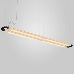 ANDlight Pipeline CM7 LED Linear Chandelier - Color: Black - Size: 4 light - PIP-CM7-P-BK-CP-30-MLV-120