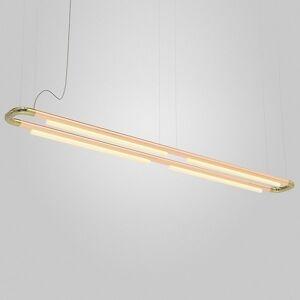 ANDlight Pipeline CM7 LED Linear Chandelier - Color: Brass - Size: 4 light - PIP-CM7-P-BR-CP-35-MLV-120
