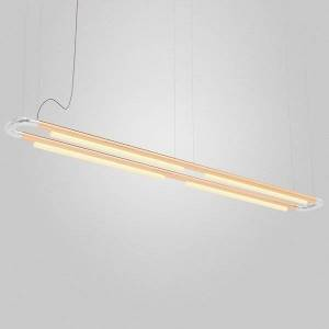 ANDlight Pipeline CM7 LED Linear Chandelier - Color: Silver - Size: 4 light - PIP-CM7-P-RA-CP-35-MLV-120