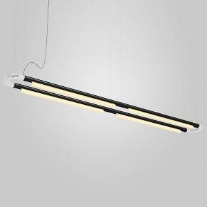ANDlight Pipeline CM7 LED Linear Chandelier - Color: Copper - Size: 4 light - PIP-CM7-P-CP-BK-35-MLV-120