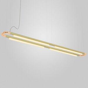 ANDlight Pipeline CM7 LED Linear Chandelier - Color: Copper - Size: 4 light - PIP-CM7-P-CP-BR-27-MLV-120